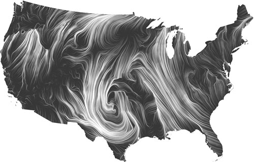 Wind Map by Fernanda Viégas and Martin Wattenberg