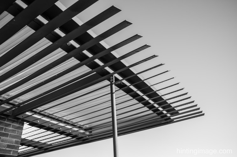 pergola black and white photo