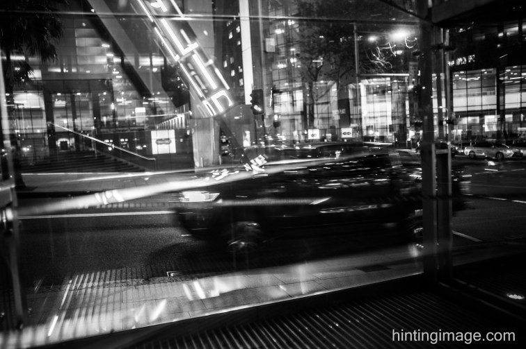 Chifley Sq Reflections black and white photo