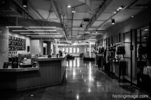 Gym at Night black and white photo