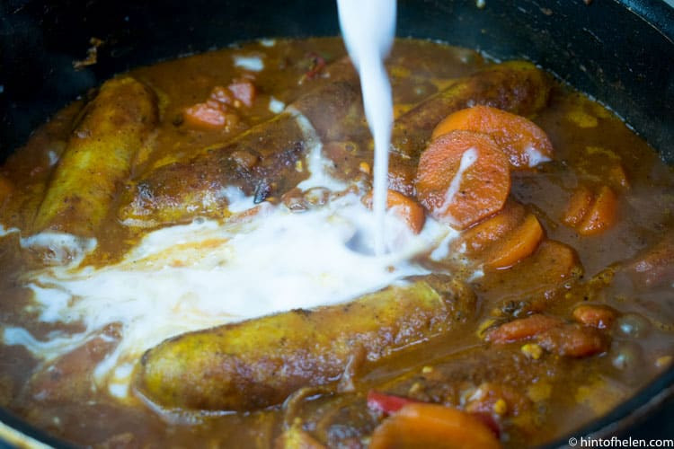 Caribbean Jerk Sausage Stew Recipe | Hint of Helen