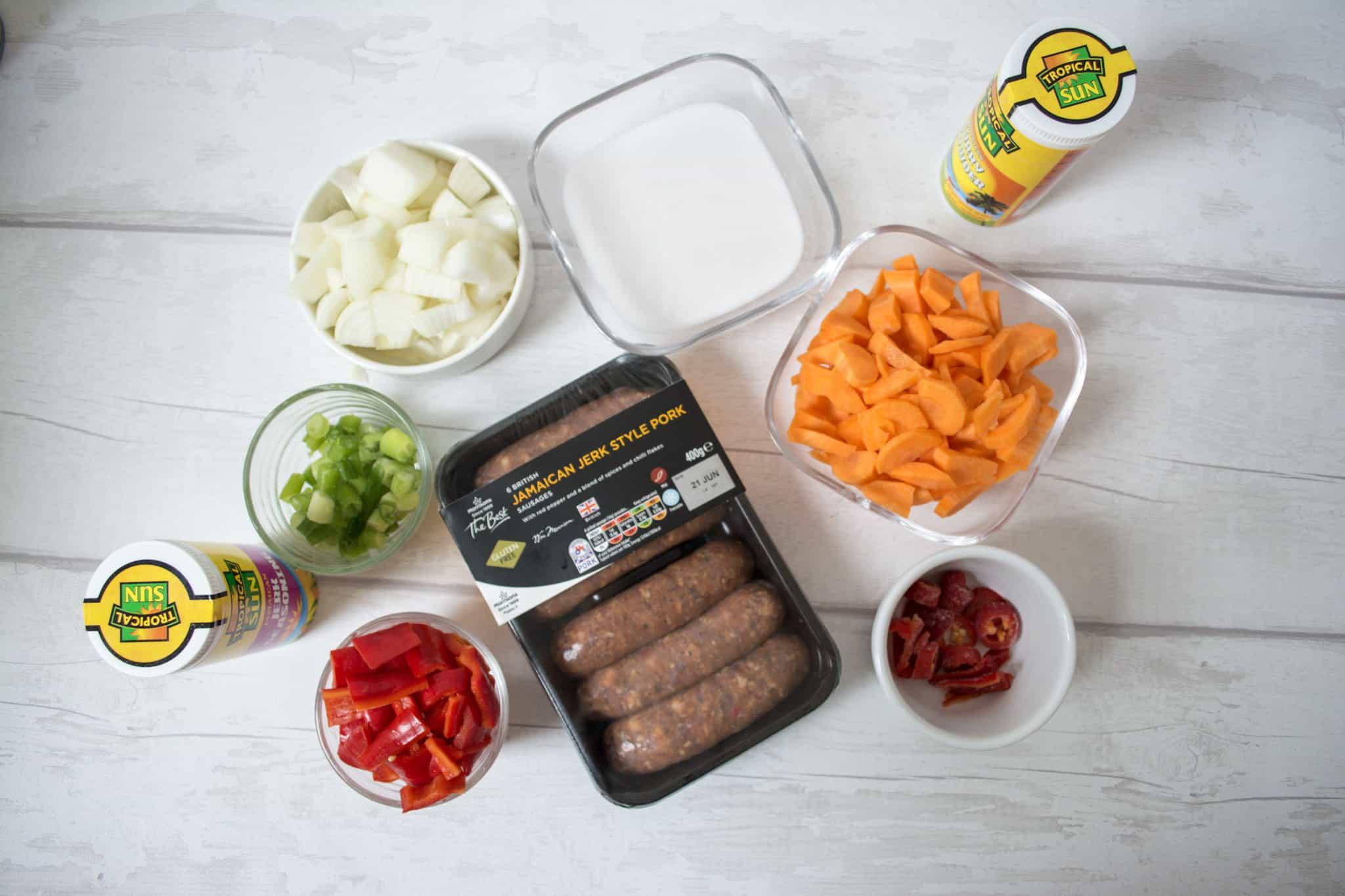 Sausage jerk ingredients