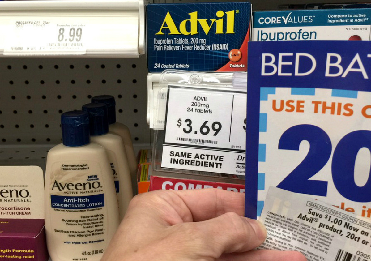 bed bath and beyond coupon stack in the store for Advil
