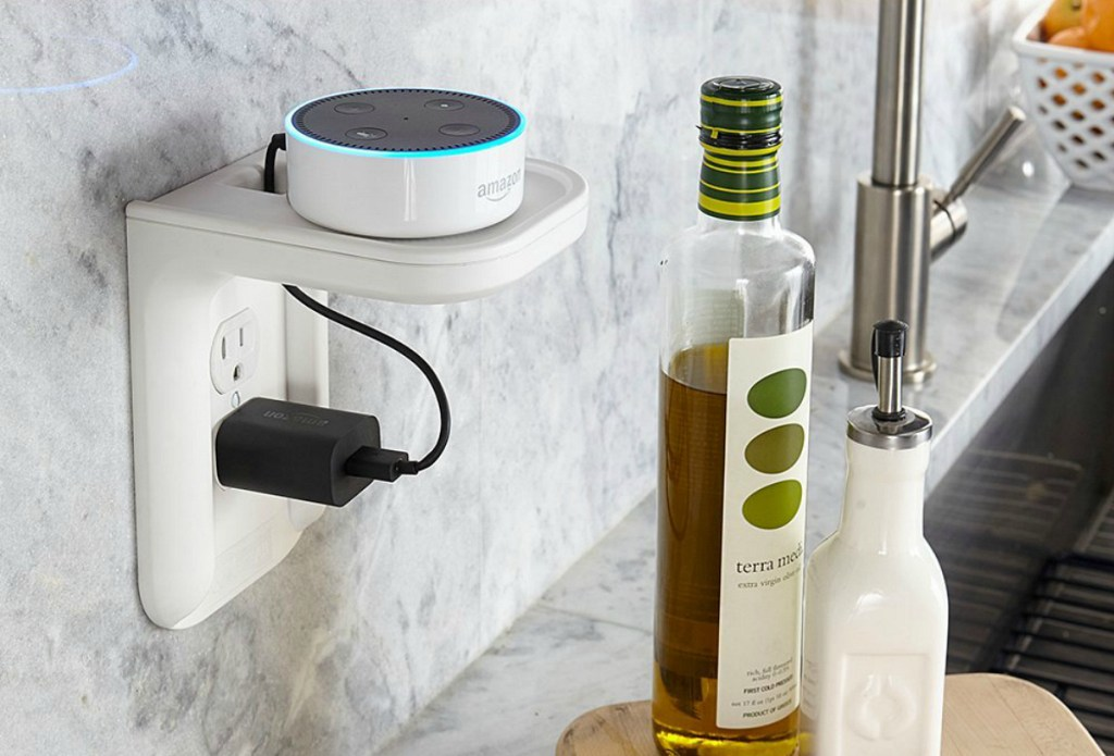 counter space saver speaker holder