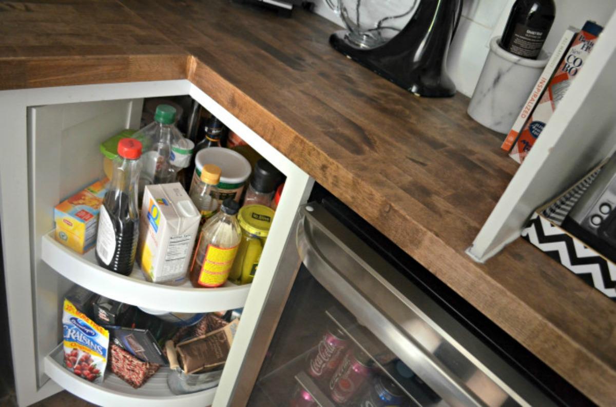 corner lazy susan cabinet