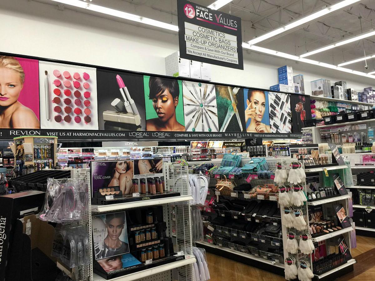 harmon beauty values store beauty section