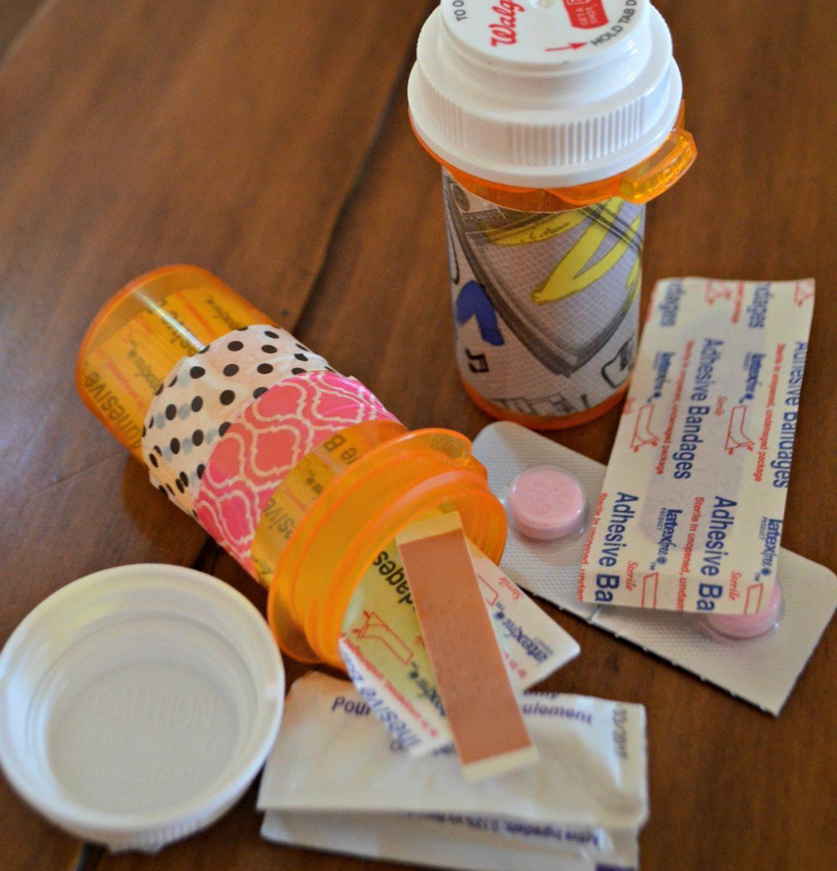 ways to repurpose trash – reusing pill bottles