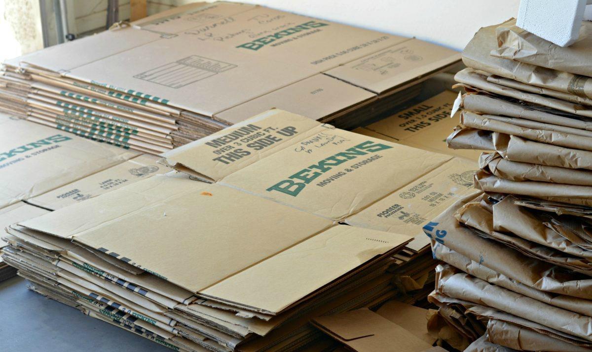 moving boxes broken down flat