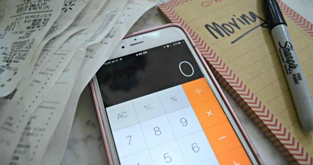 keep receipts for moving expenses