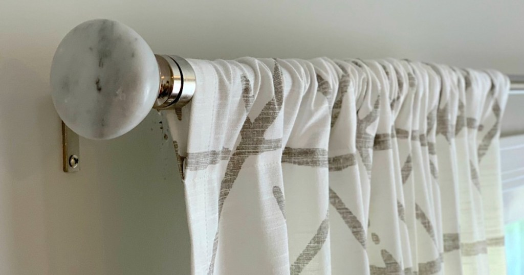 Marble curtain rod from Target