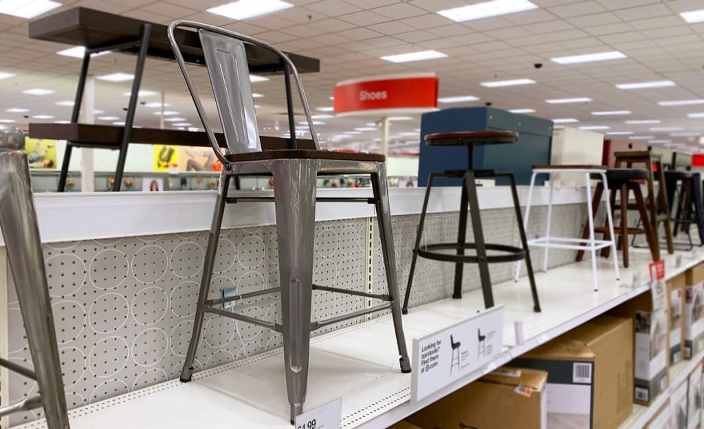 carlisle metal and wood farmhouse counter height stool