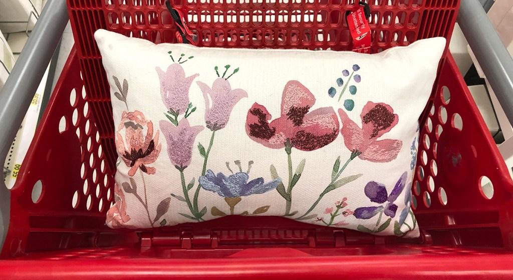 target pillows — floral lumbar pillow