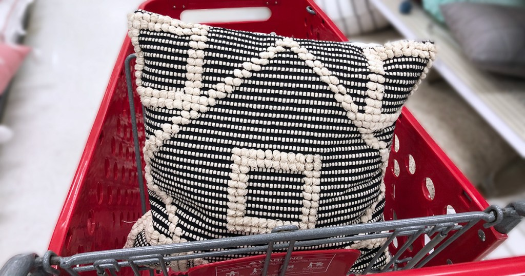 target pillows — textured black and cream opalhouse pillow