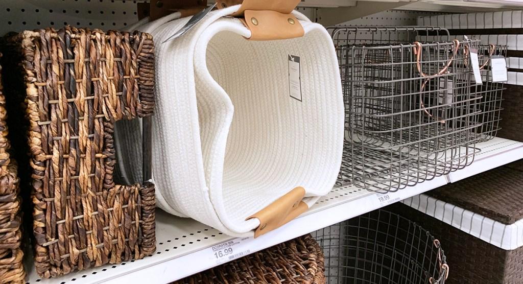 assortment of target baskets