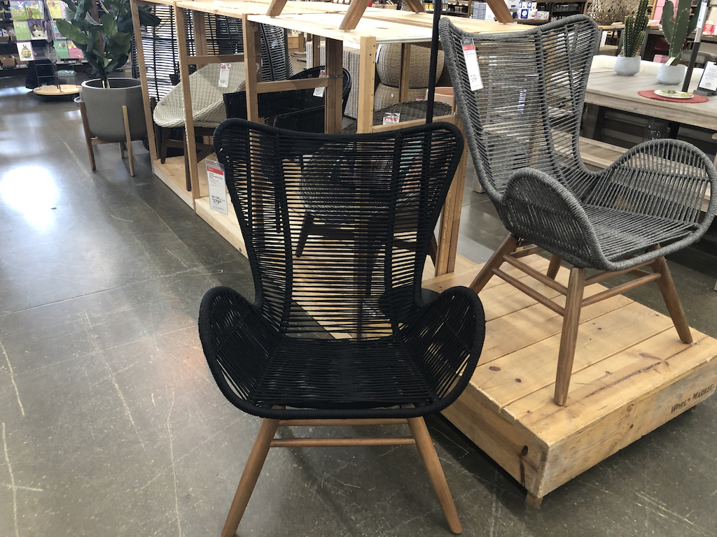 trendy outdoor chairs from world market