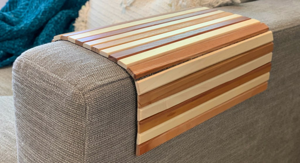 Pleasing This Couch Arm Tray Is A Great Solution For No Side Tables Caraccident5 Cool Chair Designs And Ideas Caraccident5Info