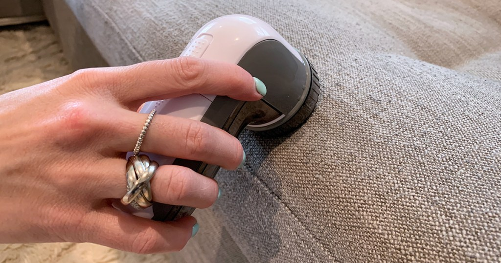 using fabric shaver on couch
