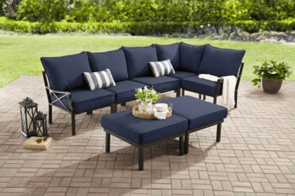 mainstays outdoor sectional set