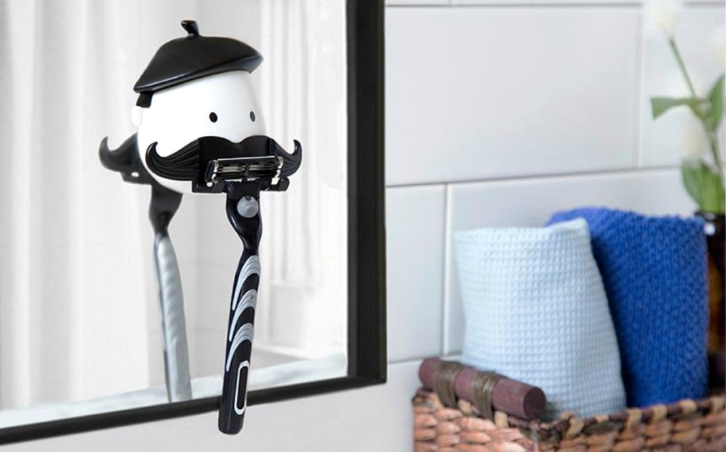 Peleg Design White & Black Mr. Razor Bust Razor Holder