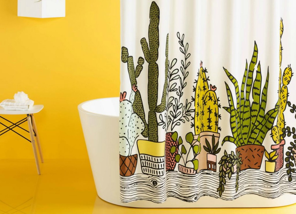 Room Essentials Plants Print Shower Curtain