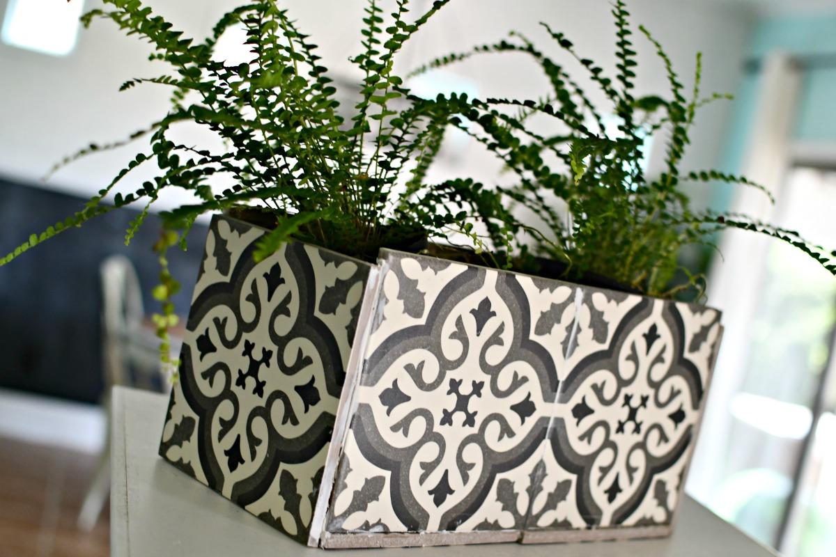 finished 6 inch tile diy planter