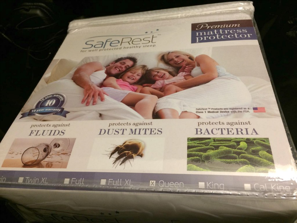 mattress cover protector in packaging