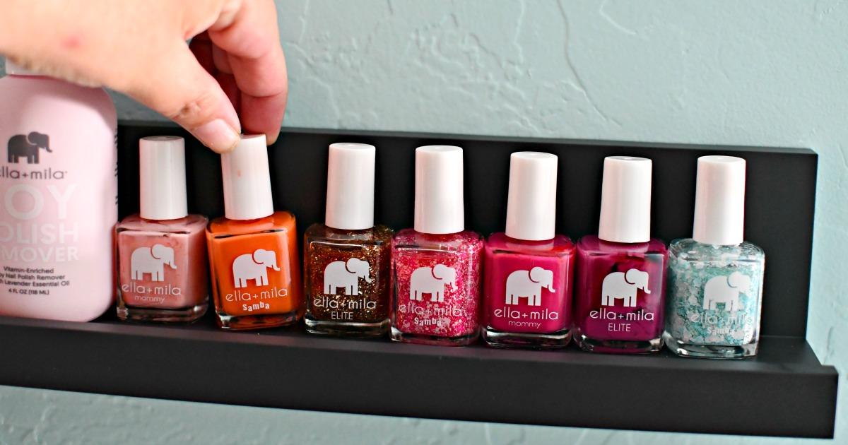 organizing nail polish with