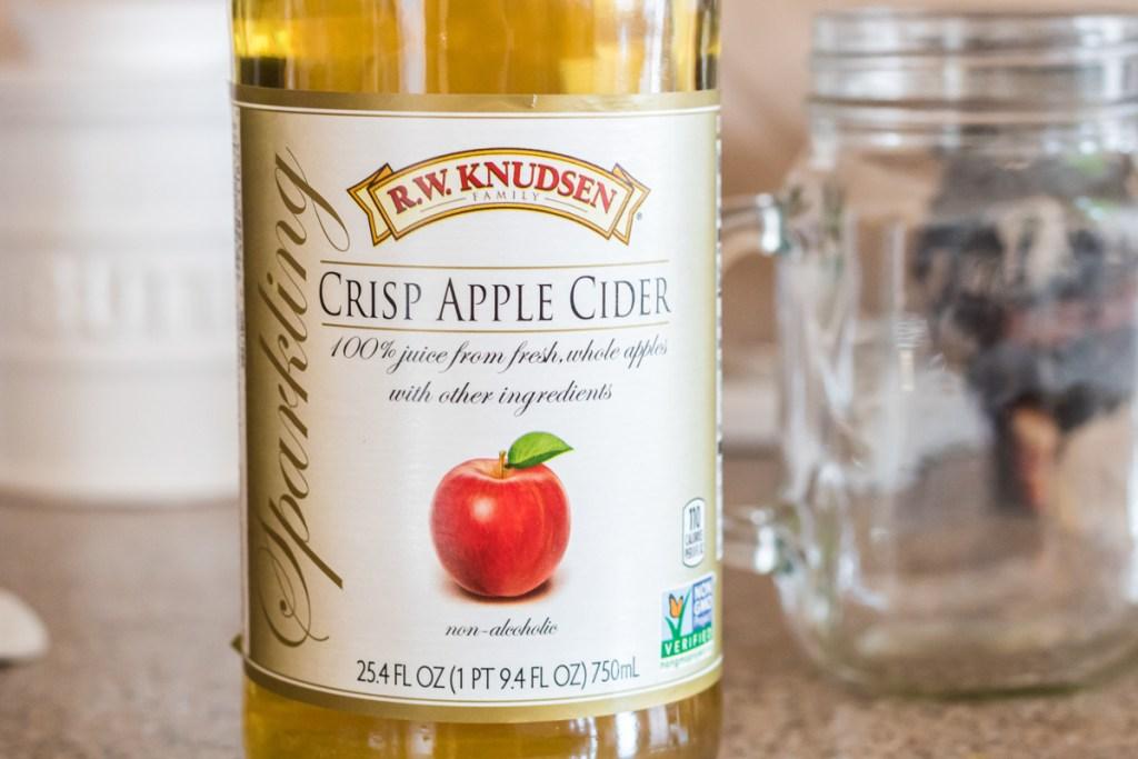 bottle of sparkling cider