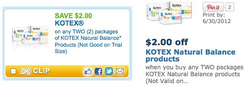 Walmart Hot Better Than Free Packages Of Kotex Natural Balance
