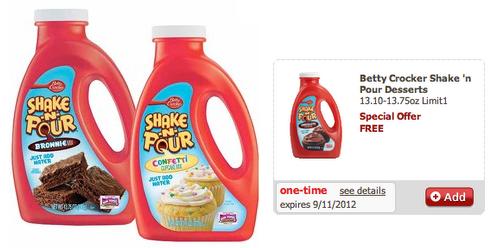 vons possible free betty crocker shake n pour desserts pepsi