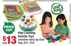 Advertised On Page 4 Of The Big Lots Ad Are A Few Different LeapFrog Toys Sale For 13 One Pictured Kiddos Playing With It In