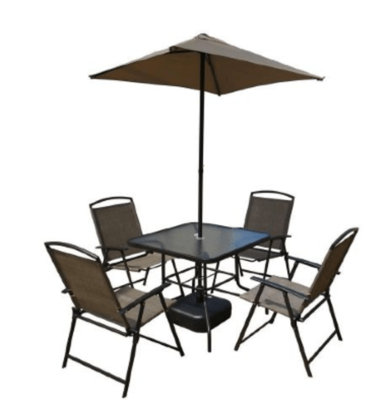 Home Depot 7 Piece Folding Patio Dining Set Only 9488 FREE In Store Pick Up Hip2Save