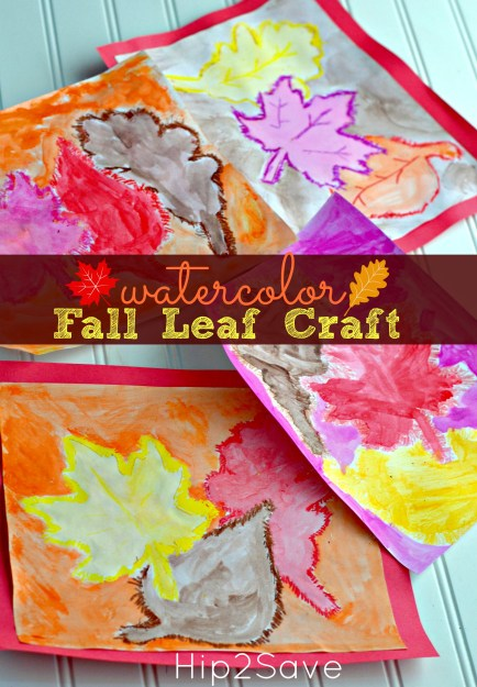 Watercolor Fall Leaf Kids Craft Hip2Save