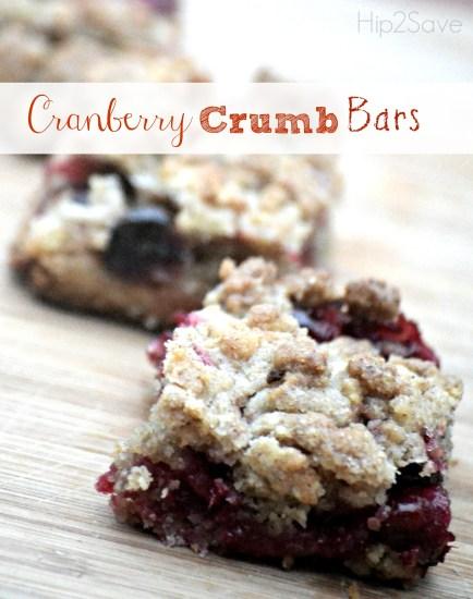 Cranberry Crumb bars Hip2Save