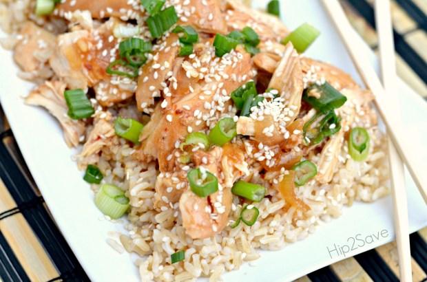 Recipe for Slow Cooker Honey Sesame Chicken Hip2Save