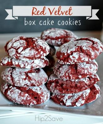 Red Velvet Box Cake Cookies