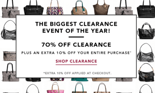 45f1142f14b1 Calling all Coach Factory Members! Head on over to Coach Factory Site where  they are currently offering up to 70% off everything + an additional 10% off  ...