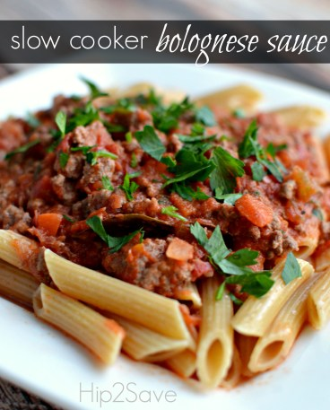 slow cooker bolognese sauce Hip2Save