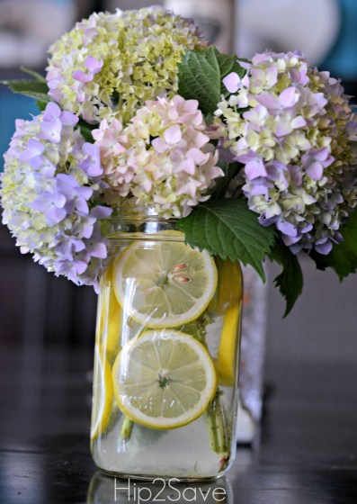 Lemons and flowers in a mason jar Hip2Save