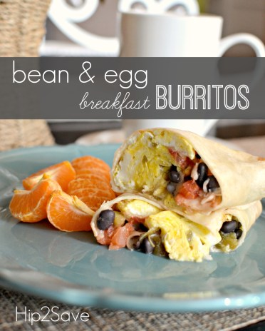 Bean and Egg Breakfast Burritos Hip2Save