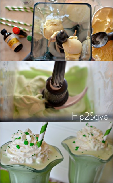 Homemade Shamrock Shake Hip2Save