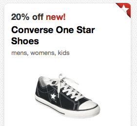 00e9813cb73 Target  20% Off Converse One Star Shoes Cartwheel Savings Offer (+ ...