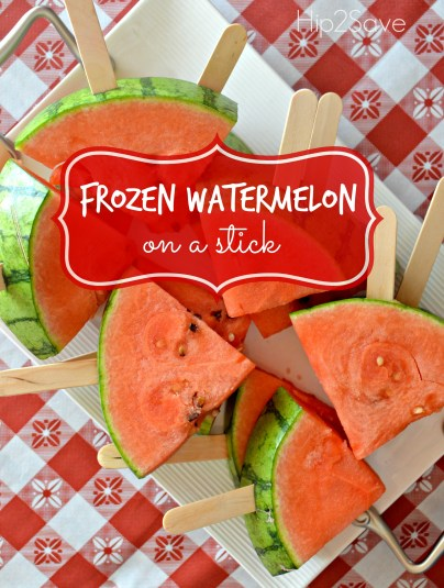 Frozen WaterMelon on a stick Hip2Save