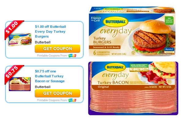 photograph about Butterball Coupons Turkey Printable known as Fresh new Butterball Turkey Bacon Turkey Burgers Discount codes \u003d Bacon