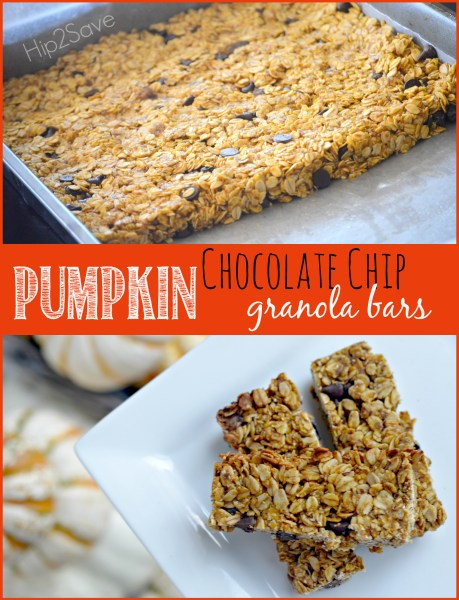 Easy Pumpkin Chocolate Chip Granola Bars Hip2Save
