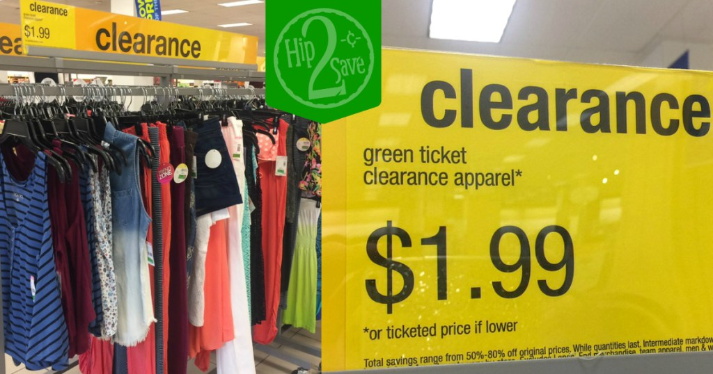Sears 1 99 Green Ticket Clearance Apparel Hip2save