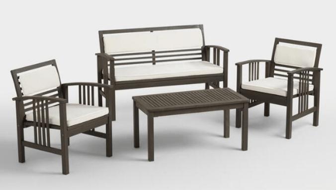 belize 4 piece outdoor furniture set