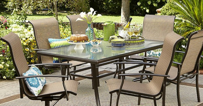 Sears Garden Oasis Harrison 7 Piece Dining Set Only 269 99 Regularly 600 Hip2save
