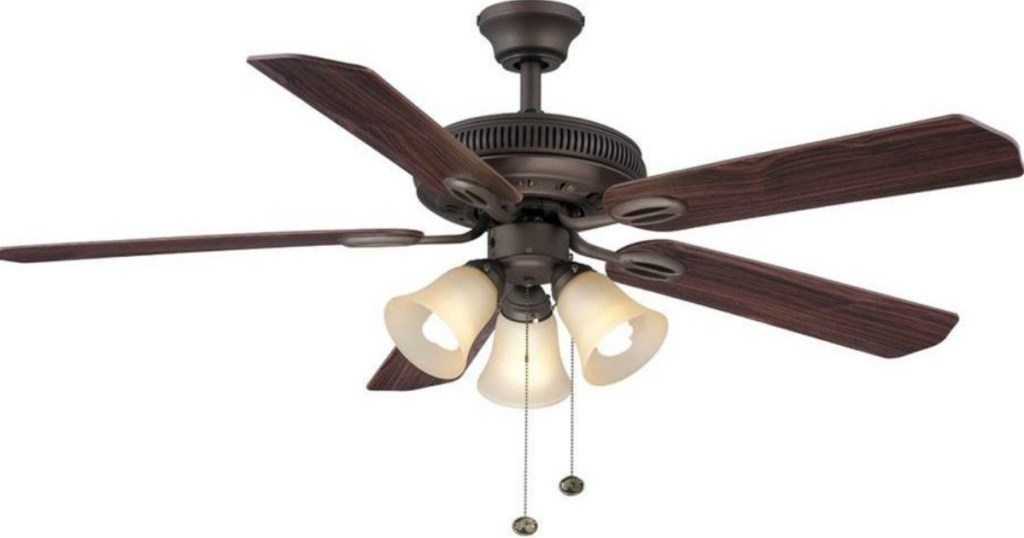 Hampton Bay Oil Rubbed Bronze Ceiling Fan W Light Kit Only 26 Regularly 53 Hip2save