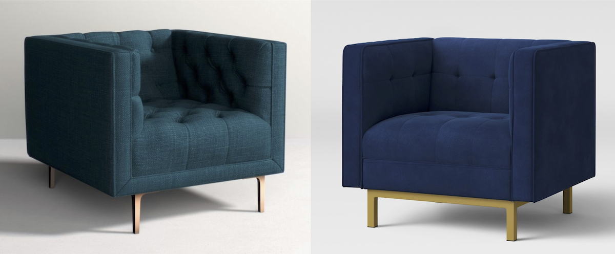 anthropologie and target accent chairs
